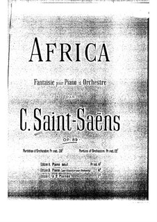 Africa, Op.89: For two pianos four hands by Camille Saint-Saëns