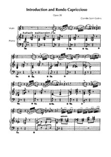 Introduction and Rondo Capriccioso, Op.28: For violin and piano by Camille Saint-Saëns