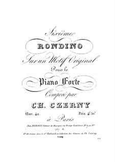 Rondino in E Flat Major, Op.42 No.6: Rondino in E Flat Major by Carl Czerny