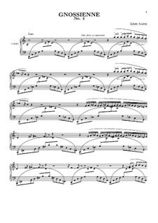 No.4: For piano by Erik Satie