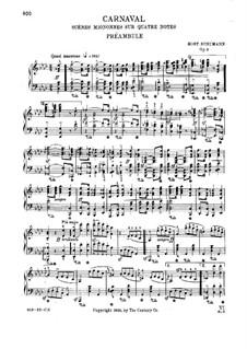 Carnival, Op.9: No.1-4 by Robert Schumann