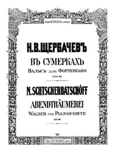 Au soir tombant. Waltz, Op.39: Au soir tombant. Waltz by Nikolai Shcherbachov