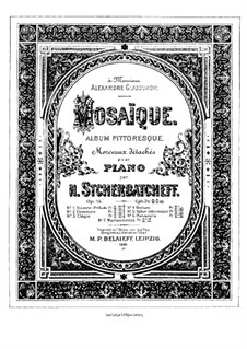 Mosaïque. Album pittoresque, Op.15: Mosaïque. Album pittoresque by Nikolai Shcherbachov