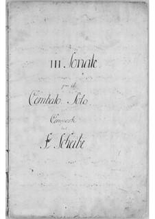 Three Sonatas for Harpsichord: Sonata No.1 in C Major by Johann Adolph Scheibe