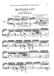 No.5 Mondnacht (Moonlight Night): For piano by Robert Schumann