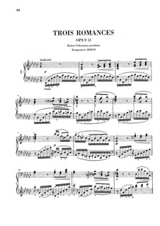 Three Romances for Piano, Op.11: Three Romances for Piano by Clara Schumann