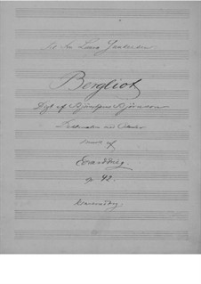 Bergliot, Op.42: Bergliot by Edvard Grieg