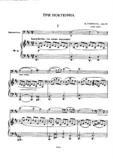 Three Nocturnes for Cello and Piano, Op.10: Three Nocturnes for Cello and Piano by Iosif Iosifovich Genishta