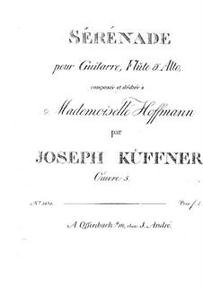 Serenade for Flute, Viola and Guitar, Op.5: Serenade for Flute, Viola and Guitar by Joseph Küffner