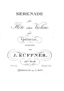Serenade for Flute (or Violin) and Guitar, Op.98: Serenade for Flute (or Violin) and Guitar by Joseph Küffner