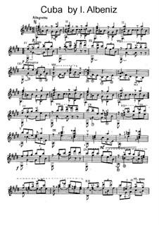 No.8 Cuba: For guitar by Isaac Albéniz