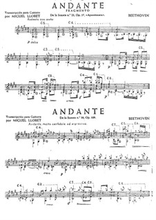 Two Andante, Op.57, 109: Two Andante by Ludwig van Beethoven