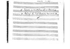 Sonata for Mandolin and Basso Continuo in C Major: Score by Giovanni Battista Gervasio