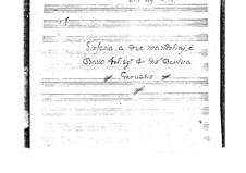 Sonata for Two Mandolins and Basso Continuo in D Major: Full score by Giovanni Battista Gervasio