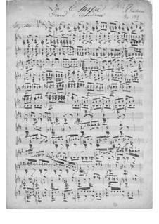 La chasse (The Hunt), Op.109: For guitar (manuscript) by Mauro Giuliani
