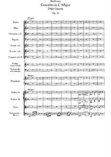 Concerto for Violin, Cello, Piano and Orchestra , Op.56: Full score by Ludwig van Beethoven