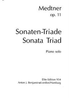 Sonata Triad for Piano, Op.11: No.2-3 by Nikolai Medtner