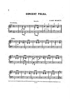 Concert Polka for Piano Four Hands: Concert Polka for Piano Four Hands by Claude Melnotte