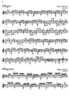 Le Papillon, Op.50: Pieces No.6, 22, 21, 17, 7, 32 by Mauro Giuliani