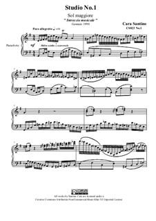 Studies for Piano, CS023 No.1-10: No.1 in G Major by Santino Cara