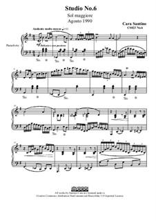 Studies for Piano, CS023 No.1-10: No.6 in G Major by Santino Cara