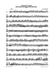 Chaconne in d-moll für Traversflöte, Barockoboe, Barockvioline und Basso Continuo, Op.60a: Parts by Klaus Miehling