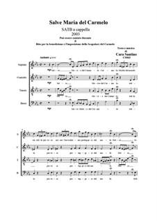 Hi, Maria del Carmelo. SATB a cappella, CS063: Hi, Maria del Carmelo. SATB a cappella by Santino Cara