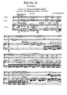 Variations on 'Ich bin der Schneider Kakadu' by W. Müller, Op.121a: Full score and parts by Ludwig van Beethoven