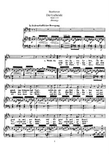 Der Liebende, WoO 139: Piano score vocal part by Ludwig van Beethoven
