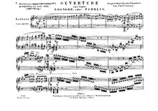 Leonore. Overture No.1, Op.138: Version for piano by Ludwig van Beethoven