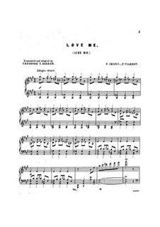 Mazurkas, Op.33: No.2, for voice and piano by Frédéric Chopin