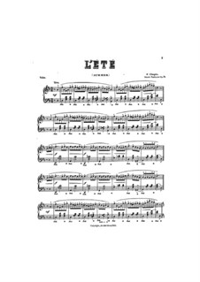 Waltzes, Op. posth.70: No.3 (L'été). Version in D Major by Frédéric Chopin