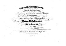 Curiose Geschichte for Voice and Piano (or Guitar): Curiose Geschichte for Voice and Piano (or Guitar) by Friedrich Wilhelm Kücken