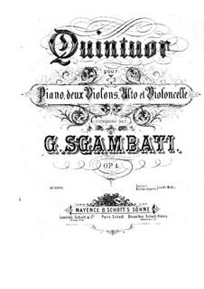 Piano Quintet No.1 in F Minor, Op.4: Cello part by Giovanni Sgambati