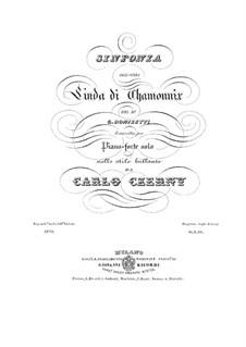 Linda di Chamounix: Overture, for piano by Gaetano Donizetti