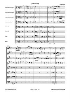 Canzon à 8: Full score by Paul Siefert