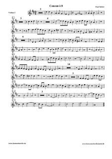 Canzon à 8: Violin II part by Paul Siefert