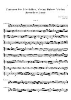 Concerto for Mandolin, Two Violins and Basso Continuo: Violin II part by Vito Ugolino