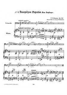 Hungarian Sketches, Op.24: Score for cello and piano by Robert Volkmann