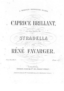 Capriccio Brilliant on Themes from 'Stradella' by Flotow: Capriccio Brilliant on Themes from 'Stradella' by Flotow by Rene Favarger
