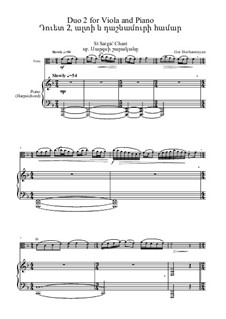 Six Duos for Viola and Piano, Op.1c: Duo No.2 by Gor Hovhannisyan