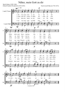 Nearer, My God, To Thee: Vocal score by Lowell Mason