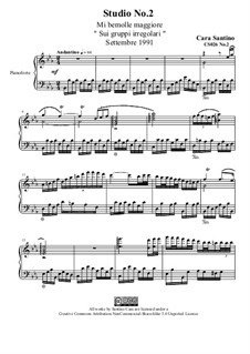 Studies for Piano, CS026 No.1-10: No.2 in mi bemolle maggiore by Santino Cara
