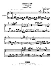 Studies for Piano, CS026 No.1-10: No.9 in sol maggiore by Santino Cara
