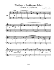 Weddings at Buckingham Palace (Variations on Greensleeves for Piano): Weddings at Buckingham Palace (Variations on Greensleeves for Piano) by Ariel Davydov