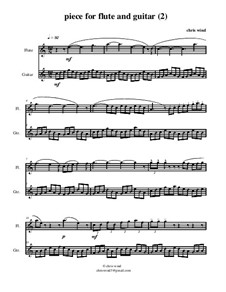Piece for flute and guitar (2): Score by Chris Wind