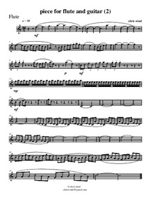 Piece for flute and guitar (2): Flute part by Chris Wind