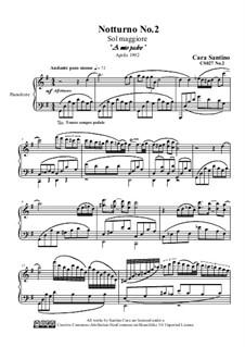 Notturno No.2 in sol maggiore per piano, CS027 No.2: Notturno No.2 in sol maggiore per piano by Santino Cara