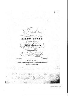 Concerto for Piano and Orchestra No.5 'L'incendie par l'orage', H.39: Concerto for Piano and Orchestra No.5 'L'incendie par l'orage' by John Field