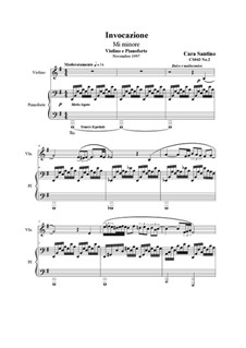 Invocazione in mi minore per violino e piano, CS043 No.2: Invocazione in mi minore per violino e piano by Santino Cara